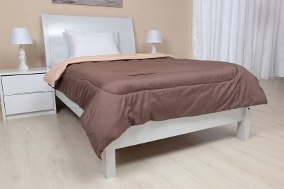 Aponi Reversible Single Comforter Stone/khaki 160x200cm