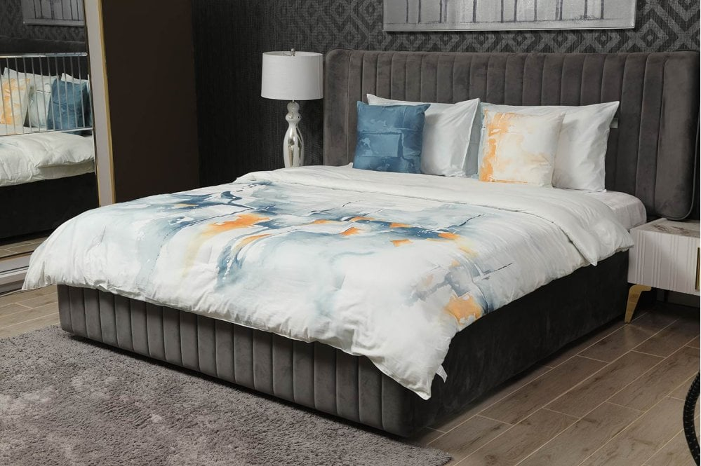 Splash 5pcs Comforter Set Blue 220x240cm
